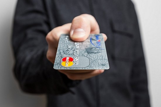 man and credit card